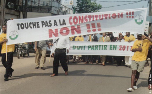 Douala, marche du SDF le 13 février. Photo © J.D.Som 1