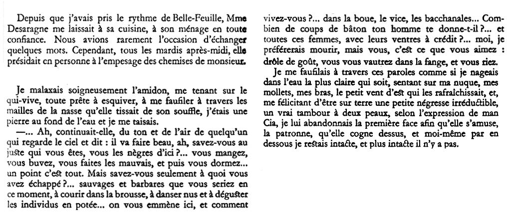 """Extrait de """"Pluie et vent sur Télumée Miracle"""", de Simone Schwartz-Bart"""