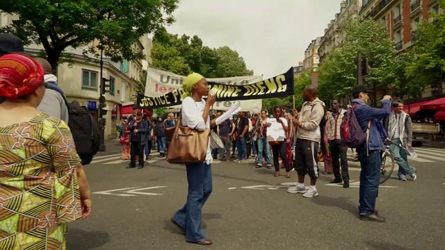 Marche lors de la 10e commémoration (2017). © Cases Rebelles