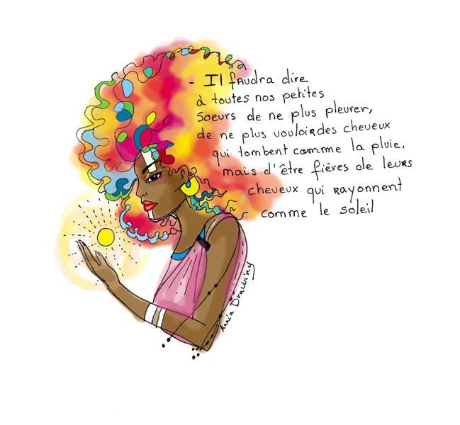 Mots doux - Cheveux (© Annia Drawing)