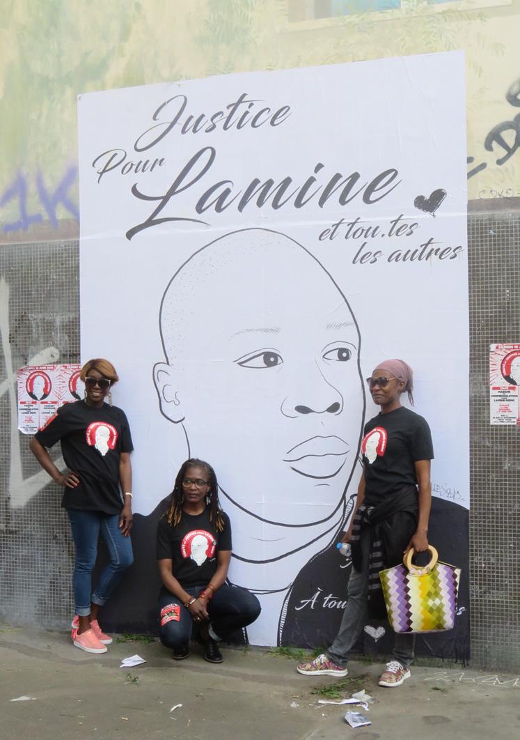 Une cousine de Lamine, Fatou et Ramata Dieng, le 15 juin 2019 (Photo © Cases Rebelles)