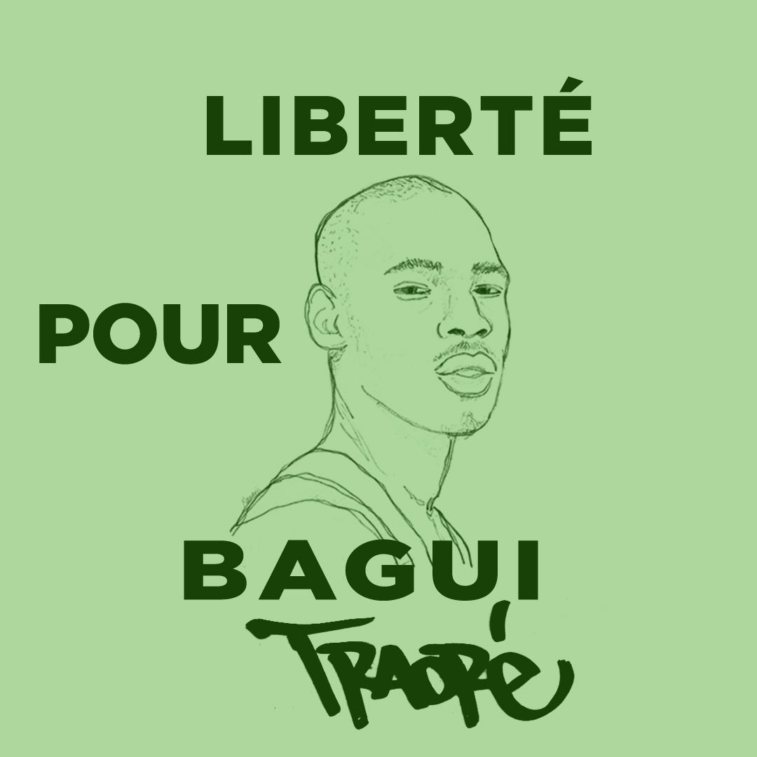 Assa Traoré, au tribunal de Pointoise le 9 juillet 2021 (photo : Cases Rebelles)
